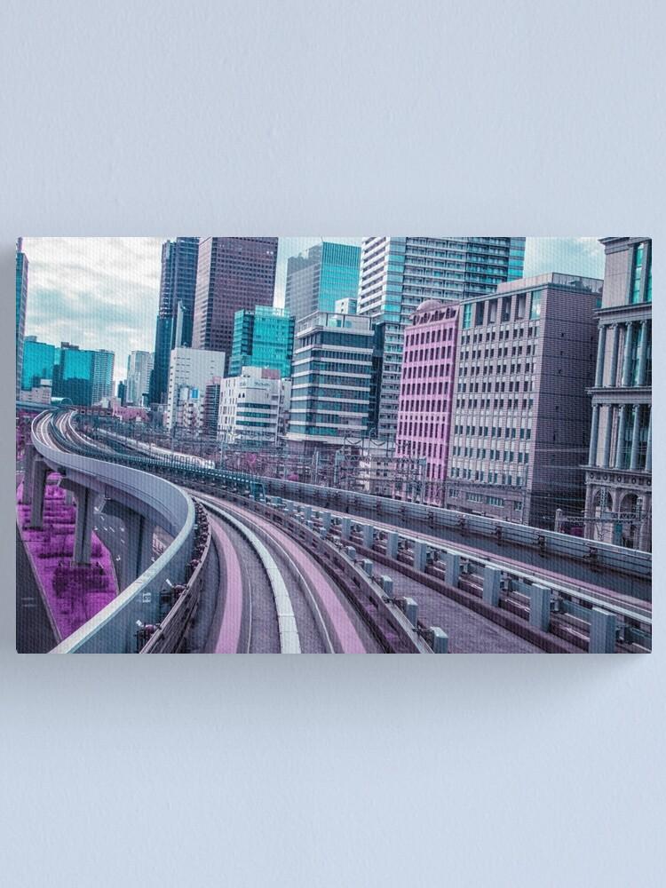 Alternate view of Tokyo - Aeon Flux Canvas Print