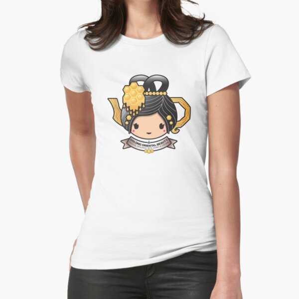 Oolong Oriental Beauty Teapot Fitted T-Shirt