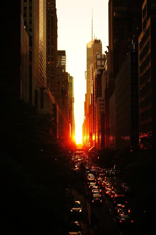Quot Manhattanhenge Sunset Midtown New York City Quot By Vivienne