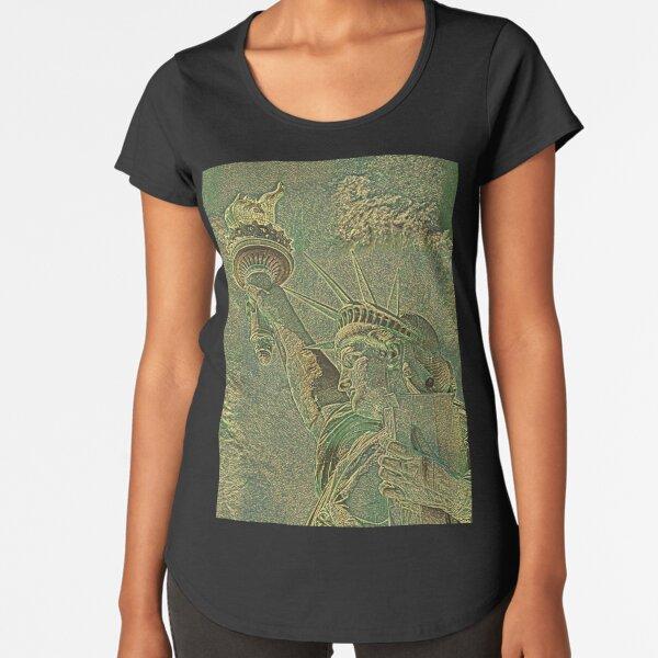 FREIHEITSSTATUE CAMOUFLAGE Premium Rundhals-Shirt
