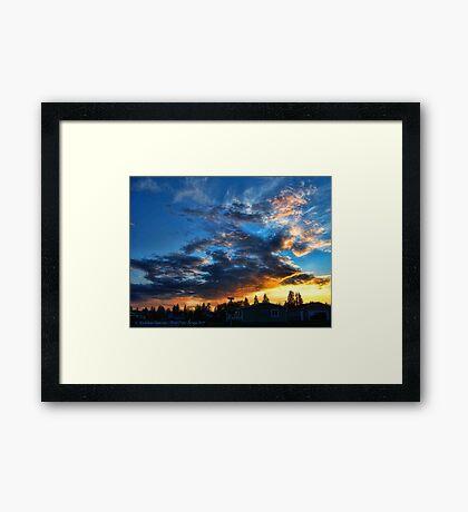 Storm's Trail (Northwestern Sunset) Framed Print