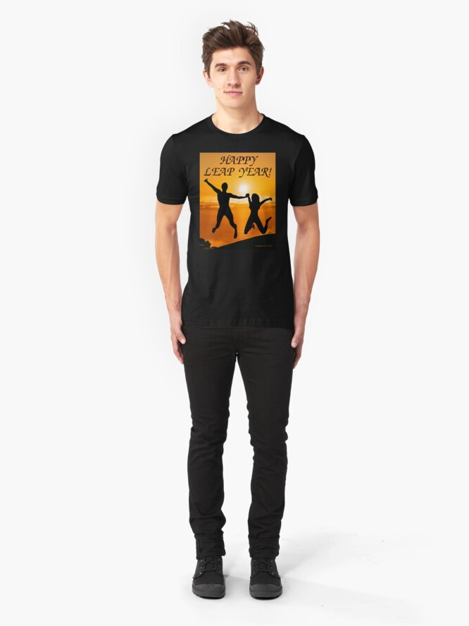 Alternate view of Happy Leap Year Slim Fit T-Shirt