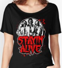 Stayin' Alive 2 (Zom-Bee Gees) Women's Relaxed Fit T-Shirt
