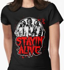 Stayin' Alive 2 (Zom-Bee Gees) Women's Fitted T-Shirt