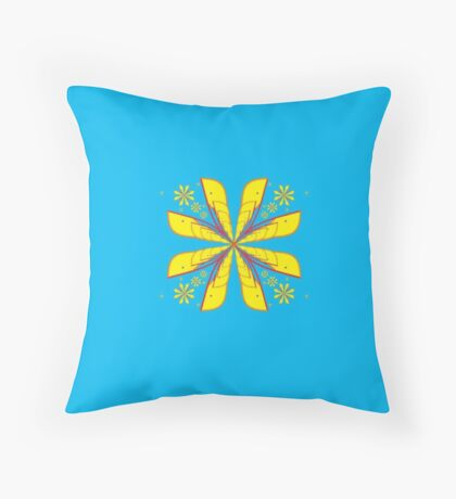 Indo Flower Throw Pillow