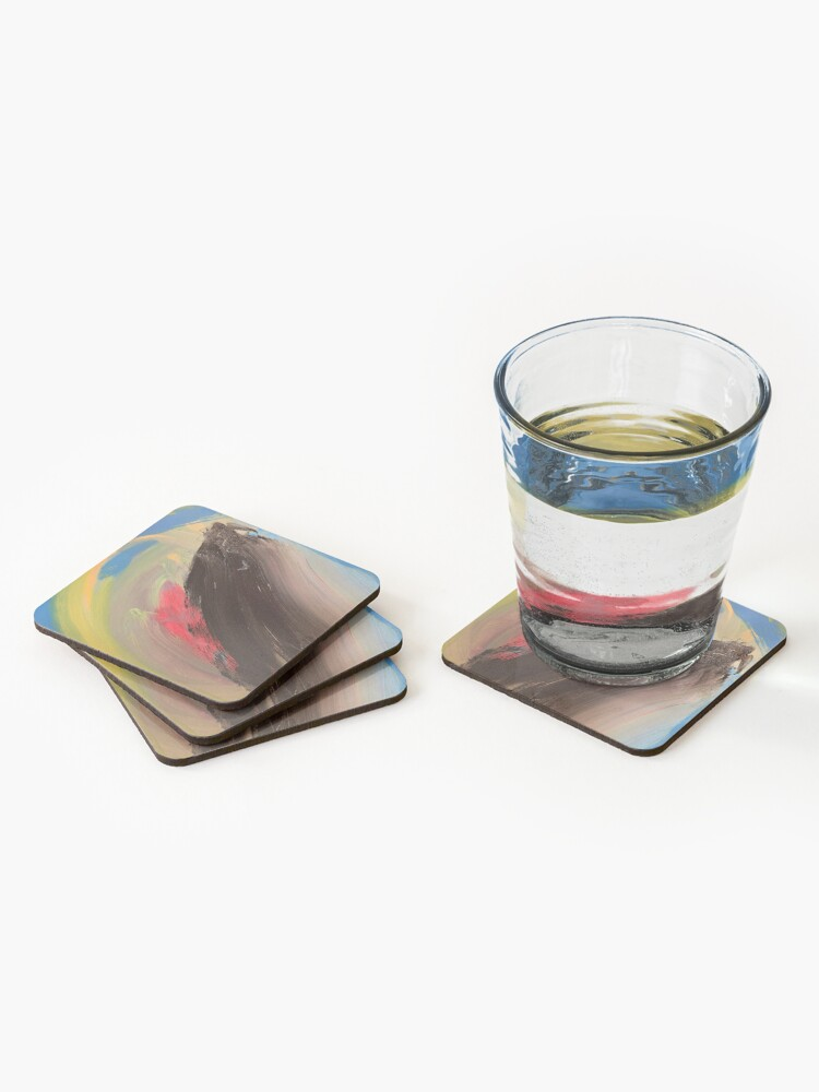 Alternate view of Love Might as Well Be An Ocean Away  Coasters (Set of 4)