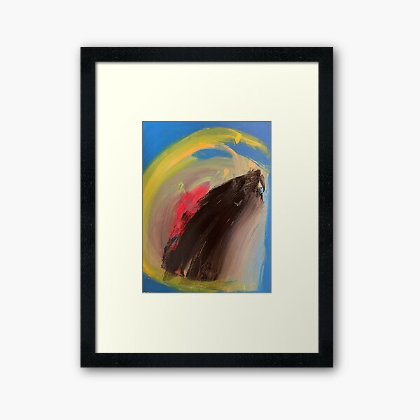 Love Might as Well Be An Ocean Away  Framed Art Print