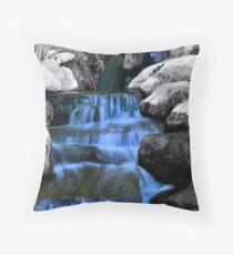 Sunken Gardens Waterfall  Throw Pillow