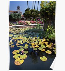 Mission Fountain Pond (San Juan Capistrano Spanish Mission, California) Poster