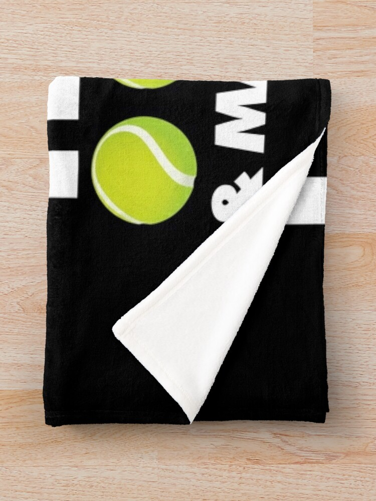 Alternate view of I Only Care About Tennis and 3 People Emoji Sports Saying Throw Blanket