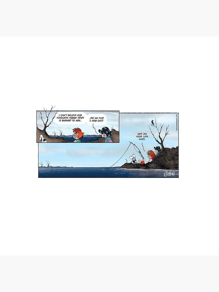 Ginger Meggs bushfire comic strip by gingermeggs