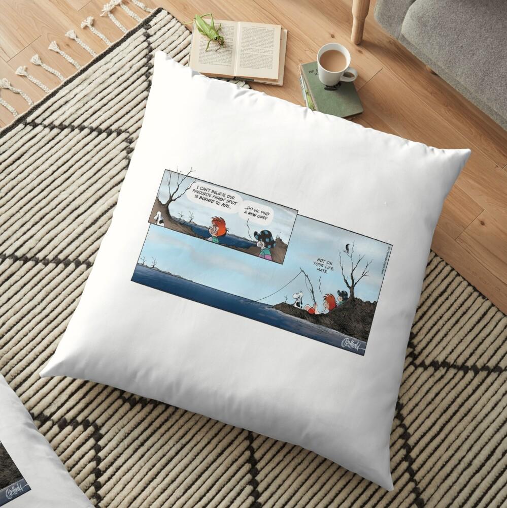 Ginger Meggs bushfire comic strip Floor Pillow