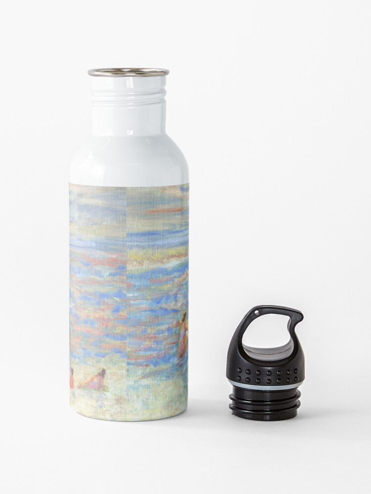 Alternate view of Mother and Child at the Beach, from impressionist painting by Pamela Parsons Water Bottle