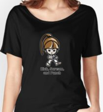 Martial Arts/Karate Girl - Front punch - Kick, Punch, Scream Women's Relaxed Fit T-Shirt