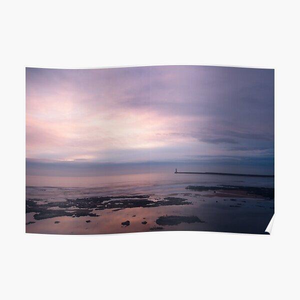 Seaburn Coastal Dawn Seascape, Sunderland, UK Poster