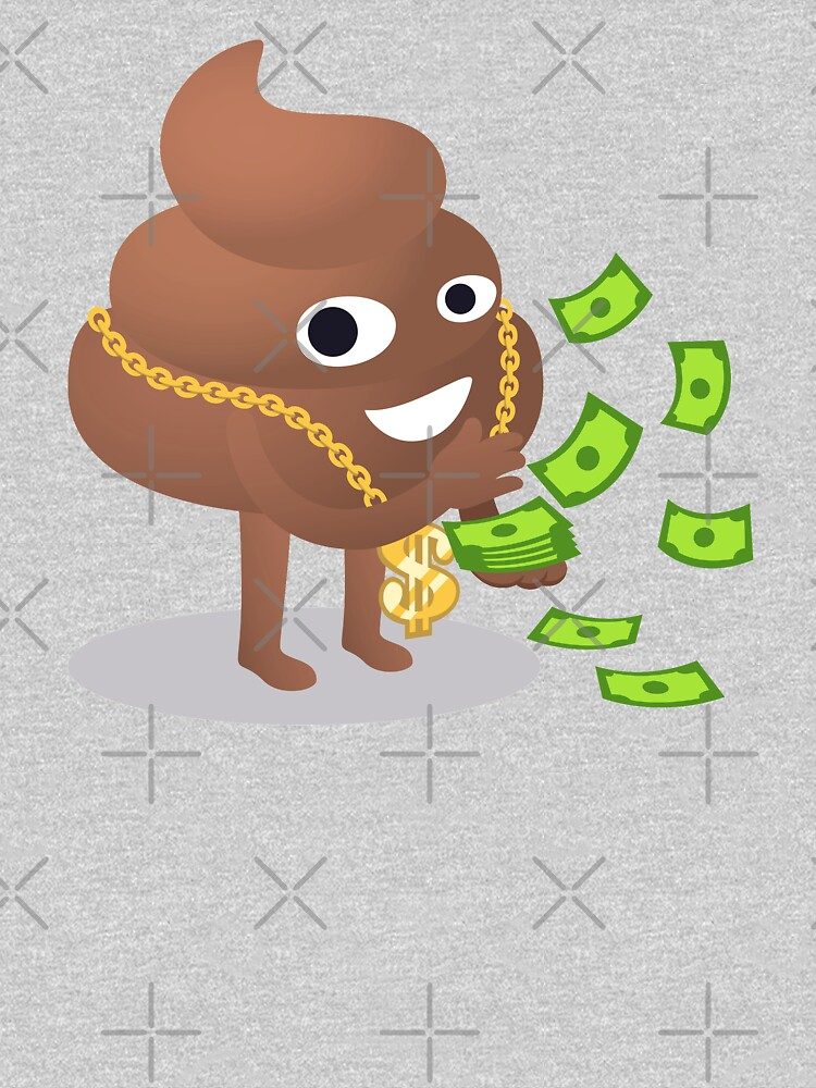 Cash Money Emoji Poo with Golden Dollar Chain by el-patron