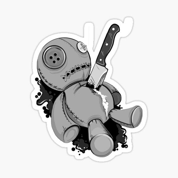VooDoo Doll, Rest in Pieces  Sticker