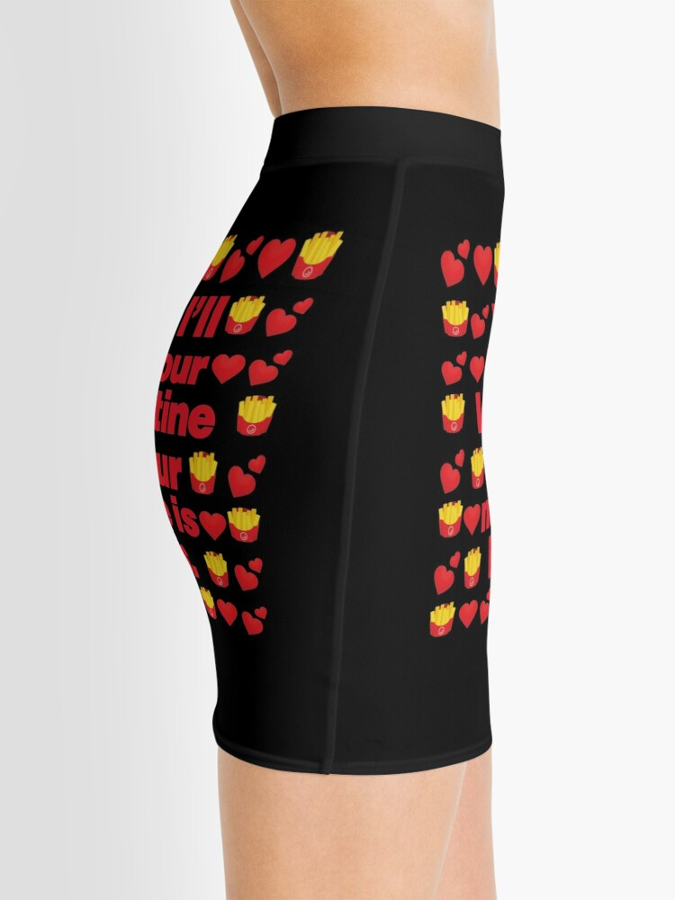 Alternate view of Pommes frites Emoji Be Your Valentine if your Name is Fries Mini Skirt