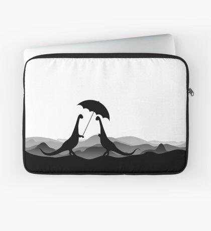 DINO LOVE UMBRELLA - Dinosaurs with Umbrella - Dino Collection Laptop Sleeve