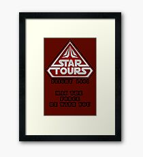 Star Tours 1401- RED Framed Print