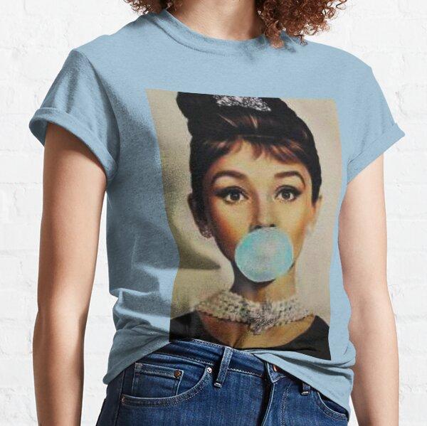 Audrey Hepburn bubble gum sky blue Classic T-Shirt
