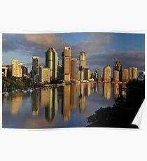 Brisbane River and City at dawn. Queensland, Australia. (11) Poster