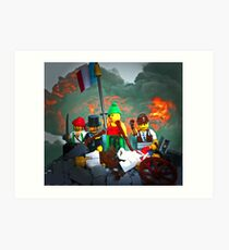 14 juillet: Liberty on the Barricades Art Print