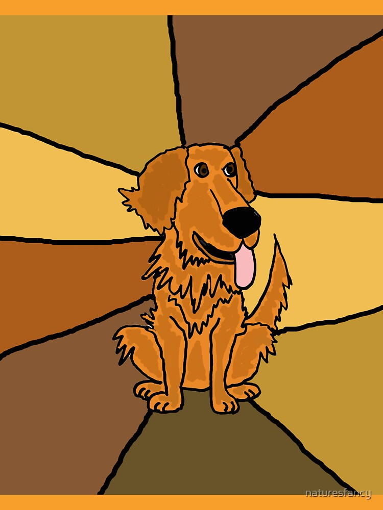Funny Golden Retriever Puppy Abstract by naturesfancy