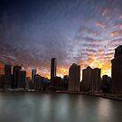Brisbane River Sunset by Peter Doré