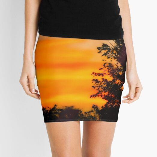 Silhouette Sunset Mini Skirt