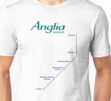 I'm Alan Partridge – Alan's Train to London Unisex T-Shirt