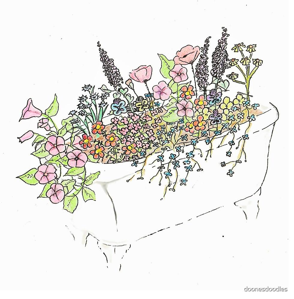 Wildflower Tub 'Anita's Flowers' by doonesdoodles