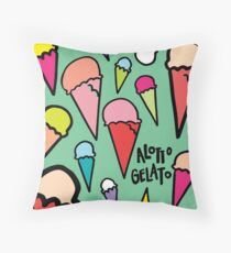 Alotto Gelato  Throw Pillow