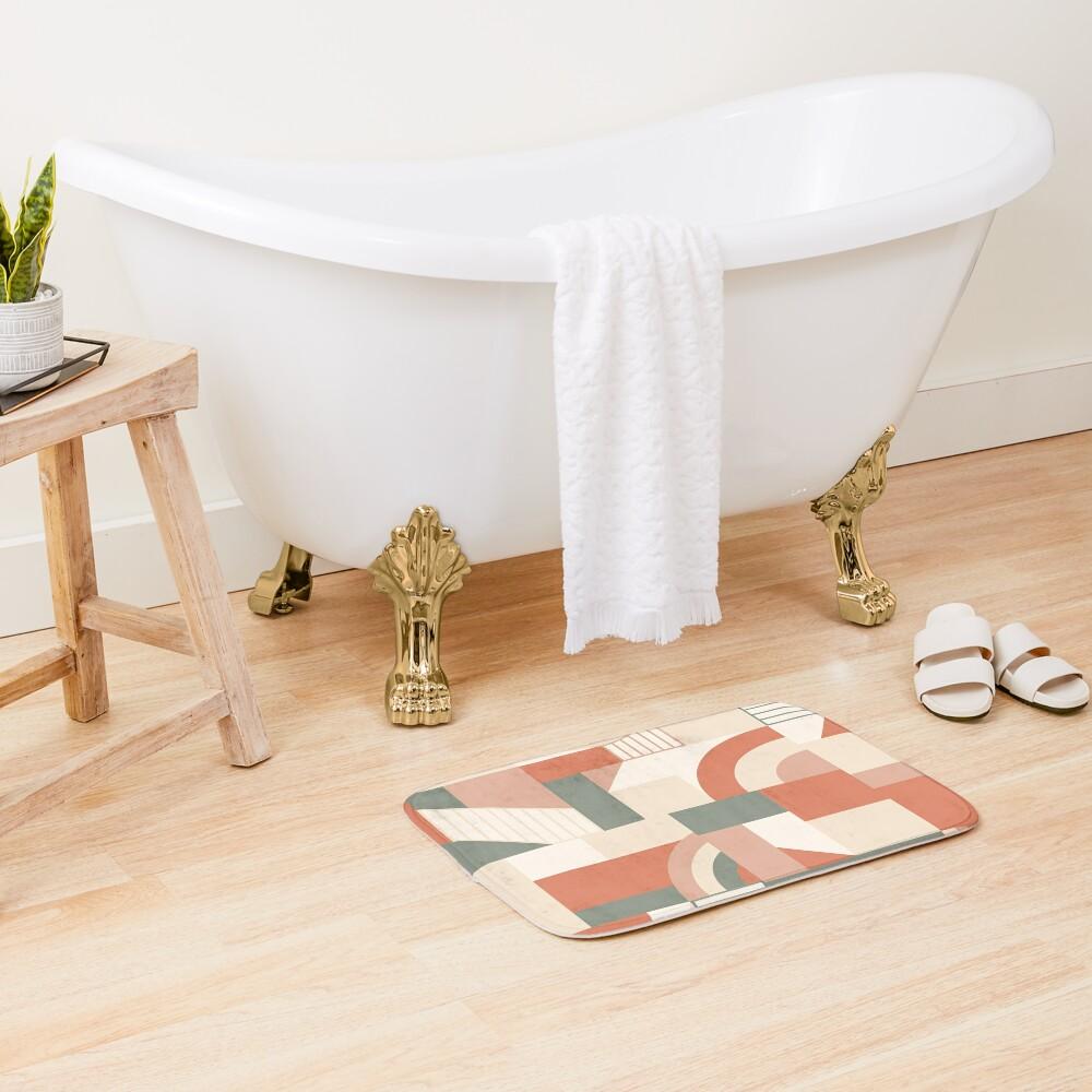 Earthy Blocks Bath Mat