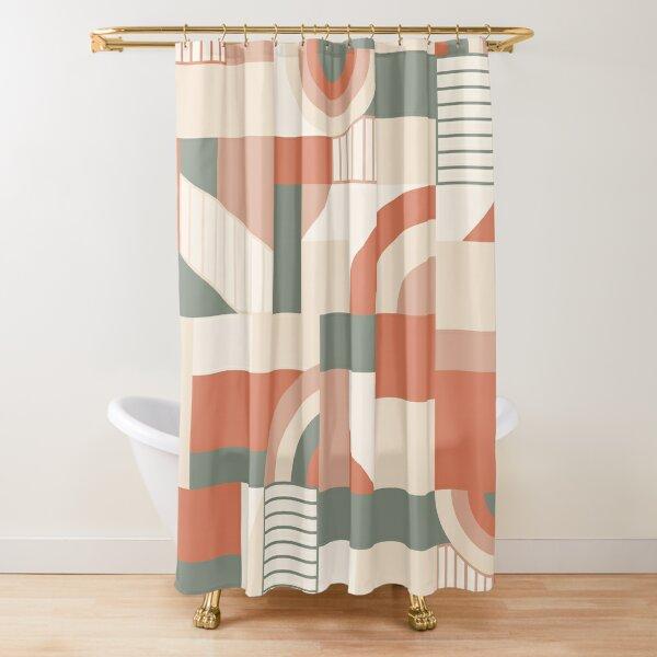 Earthy Blocks Shower Curtain