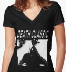 Death Classic (-Death Grips) Women's Fitted V-Neck T-Shirt