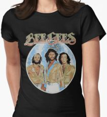 Bee Gees DISCO BALL Womens Fitted T-Shirt