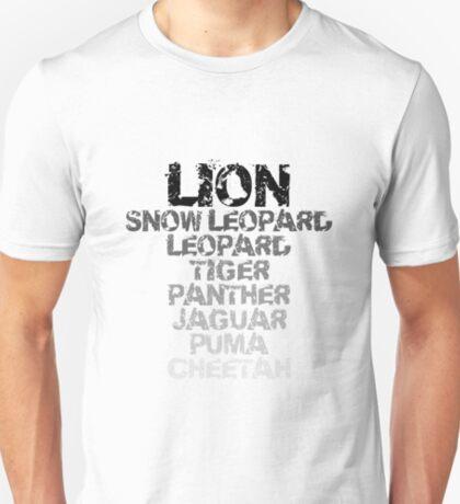 """Mac OS X Lion """"Versions"""" T-Shirt"""