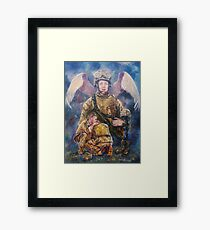 Fallen Soldier Angel Print Framed Print