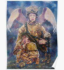 Fallen Soldier Angel Print Poster