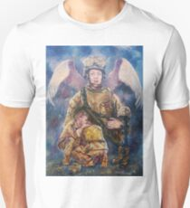 Fallen Soldier Angel Print T-Shirt