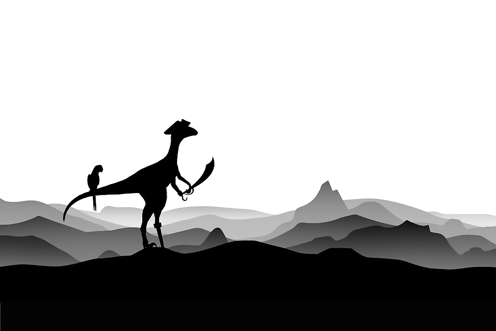 DINO PIRATE - PIRATE DINOSAUR - YARRR - Dino Collection by 11pixeli