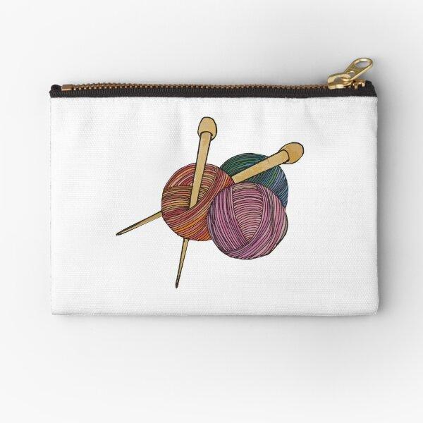 Yarn & Needles Zipper Pouch