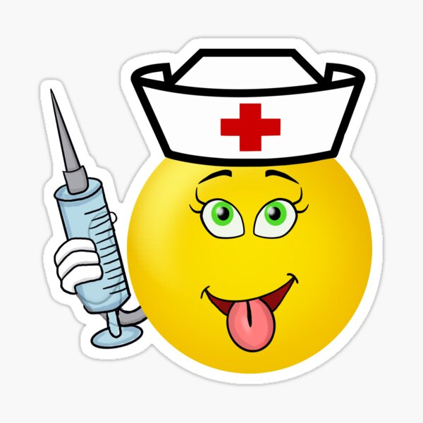 Emoticon Funny Nurse Student Gifts Funny Nursing Student Er Nurse Emoticon Rn Gift Sticker By Funnyg480 Redbubble