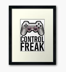 Control Freak Pun Video Game Controller Gamers Framed Print
