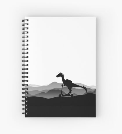 DINO ON SCOOTER - DINOSAUR ON CHILD SCOOTER - Dino collection Spiral Notebook