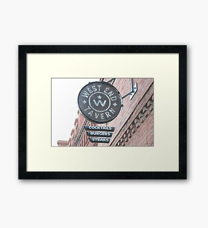 The West End Framed Print