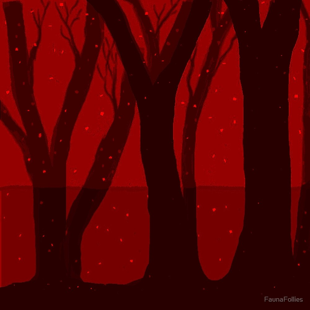 Magical Forest in RED by FaunaFollies