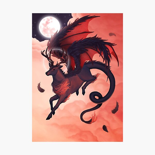The Red Dragonstag Photographic Print