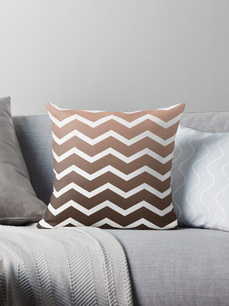 Chocolate Ombre Fade Chevrons by ImageNugget